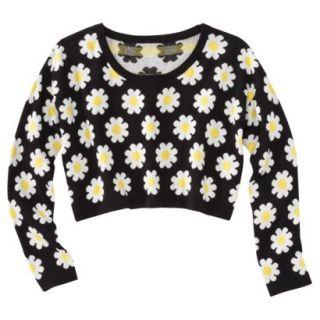 Xhilaration Juniors Cropped Daisy Sweater   XS(1)