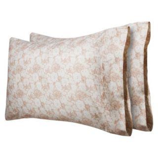 Threshold 325 Thread Count Organic Cotton Pillowcase Set   Pink Dandelion