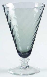 Fostoria Pavilion Smoke Gray Iced Tea   Stem #6143, Smoke Gray, Swirl Optic