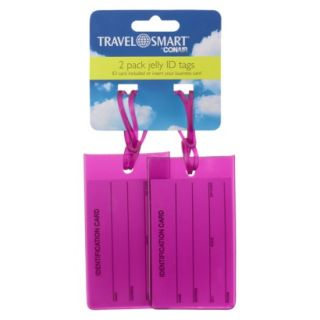 Travel Smart 2 Pack Jelly Tags Pink