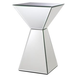 Accent Table: Mirrored Pyramid Living Room Accent Side/End Table