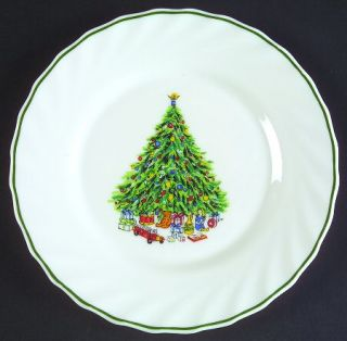 Salem Noel Salad Plate, Fine China Dinnerware   Tree Center,Porcelle