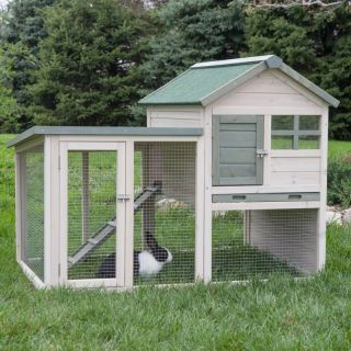 Hayneedle Boomer & George White Wash Rabbit Hutch   DDP 1122L