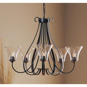Hubbardton Forge HUB 101454 20 CTO Sweeping Taper Chandelier 5 Arm Sweep Taper