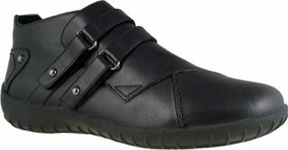 Womens Walking Cradles Christy   Black Leather Casual Shoes