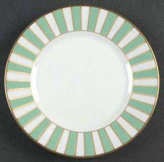 Richard Ginori Amadeus Green Bread & Butter Plate, Fine China Dinnerware   Mint