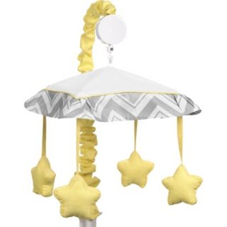 Yellow and Gray Zig Zag Musical Mobile