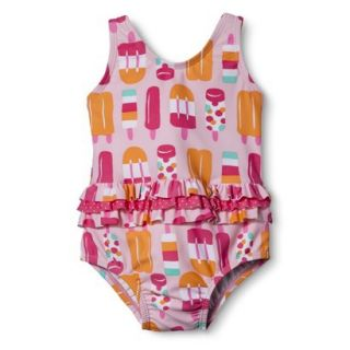 Just One You by Carters Infant Toddler Girls 1 Piece Popsicle Swimsuit   Pink