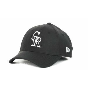 Colorado Rockies New Era MLB Black and White Ace 39THIRTY