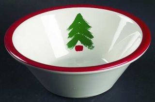 Pfaltzgraff Christmas Coupe Cereal Bowl, Fine China Dinnerware   Marimekko,Red B