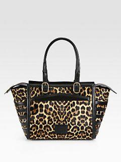 Christian Louboutin Farida Leopard Print Calf Hair Bowling Bag   Leopard