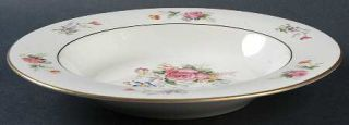 Royal Jackson Lord Patterson Smooth Edge Rim Soup Bowl, Fine China Dinnerware