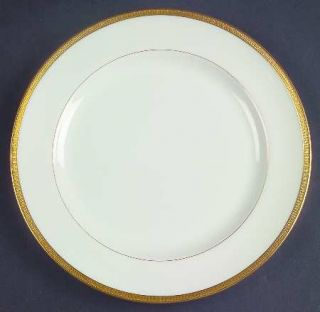 Lenox China Tuxedo (Green Backstamp) Salad Plate, Fine China Dinnerware   Gold E