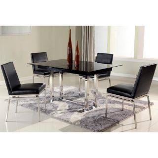 Chintaly Tyler 5 Piece Expandable Dining Table Set Multicolor   CTY1305