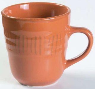 Gibson Designs Basic Living V Saffron Mug, Fine China Dinnerware   All Saffron Y