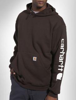 Carhartt Midweight Logo Sleeve Hooded Sweatshirt