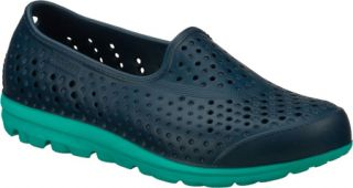 Womens Skechers H2GO   Navy/Green Casual Shoes
