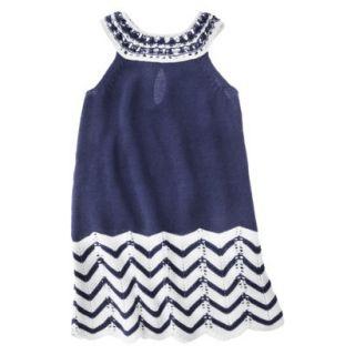 Infant Toddler Girls Sleeveless Knit Dress   Navy 18 M