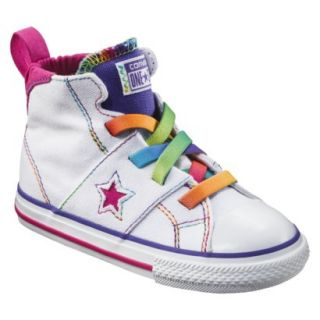 Toddler Girls Converse One Star High Top Sneaker   White 8