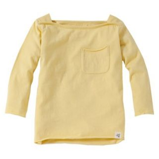 Burts Bees Baby Toddler Girls Boatneck Tee   Daffodil 4T