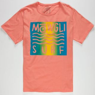 Wild Surfer Mens T Shirt Coral In Sizes Small, Large, Medium, X Lar