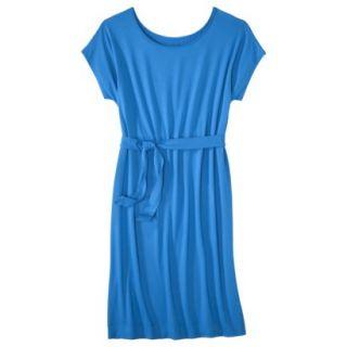 Merona Womens Knit Belted Dress   Brilliant Blue   XL