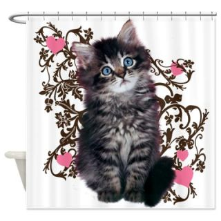 Cute Kitten Kitty Cat Lover Shower Curtain  Use code FREECART at Checkout