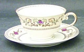Royal Embassy Wheeling (Japan) Footed Cup & Saucer Set, Fine China Dinnerware