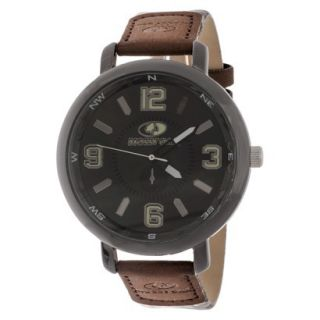 Mens Mossy Oak Analog Watch Set with Pocket Knife   Brown/Beige Camo