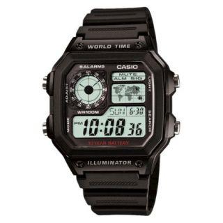 Casio Mens World Time Watch   AE1200WH 1AV