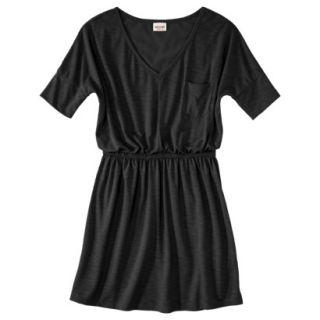 Mossimo Supply Co. Juniors V Neck Elbow Sleeve Dress   Black M(7 9)