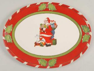 Christopher Radko Letters To Santa 14 Oval Serving Platter, Fine China Dinnerwa