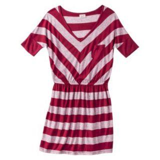 Mossimo Supply Co. Juniors V Neck Dress   Cranberry Zing XL(15 17)