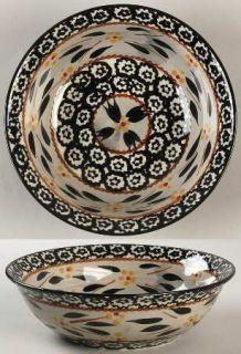 Temp Tations Old World Black Soup/Cereal Bowl, Fine China Dinnerware   Black Spo