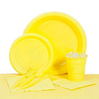 School Bus Yellow Plastic Party Pack