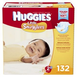 HUGGIES Little Snugglers Diapers Giant Pack   Size 2 (132 Count)