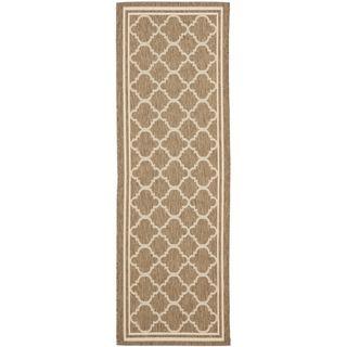 Safavieh Indoor/ Outdoor Courtyard Brown/ Bone Rug (23 X 22)