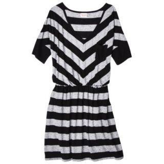 Mossimo Supply Co. Juniors V Neck Elbow Sleeve Dress   Black/Gray XS(1)