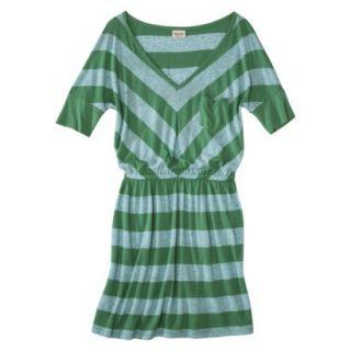 Mossimo Supply Co. Juniors V Neck Dress   Trinidad Green XS(1)