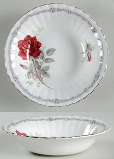 Royal Stafford Roses To Remember Fluted Coupe Cereal Bowl, Fine China Dinnerware