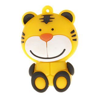 4G Cute Cartoon Tiger Shaped USB Flash Drive