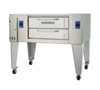Bakers Pride Pizza Deck Oven, 48 in x 36 in Bake Deck, Two 6 7/8 in H Sections, NG