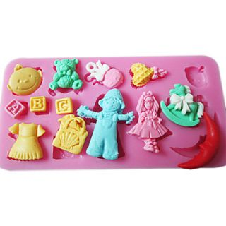 3D Cuter Small Things Shaped Silicone Mold
