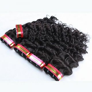 22 Inch Natural Black Deep Wave Kinky Curly Mongolian Virgin Hair Weave 62G/Piece (2.10OZ/Piece)