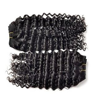 Brazilian Deep Wave Weft 100% Virgin Remy Human Hair Extensions Mixed Lengths 8 10 12 Inches