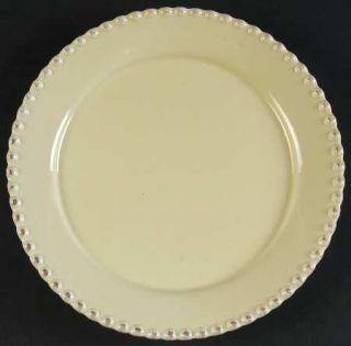 American Atelier Bianca Bead Crema (Cream) Salad Plate, Fine China Dinnerware
