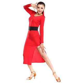 Ballroom Dancewear Viscose Latin Dance Dress for Ladies(More Colors)