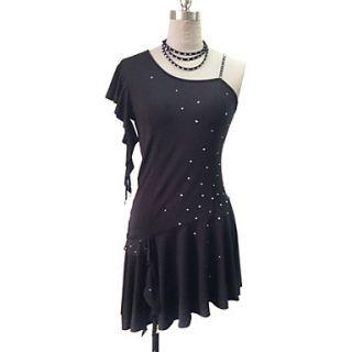 Dancewear Polyester With Rhinestone Latin Dance Dress for Ladies