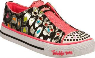 Infant/Toddler Girls Skechers Twinkle Toes Shuffles Somethin Wild   Black/Multi