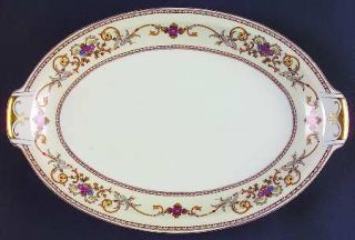 Royal Embassy Wheeling (Japan) 13 Oval Serving Platter, Fine China Dinnerware